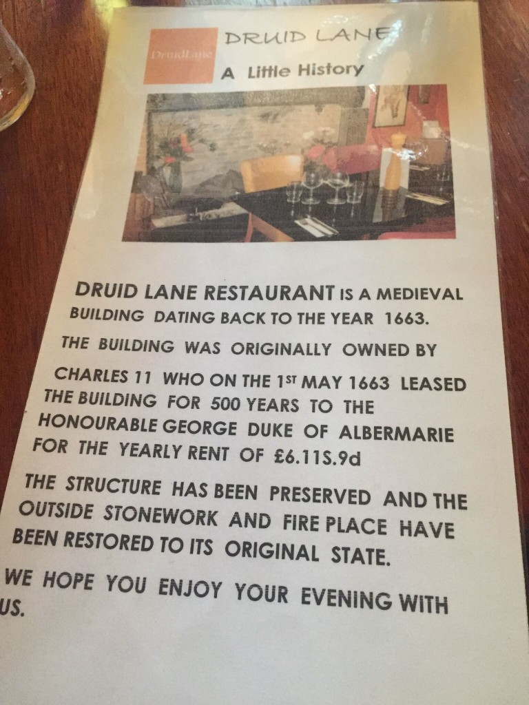 Druid Lane Restaurant