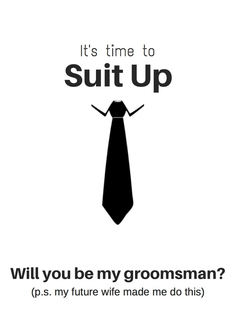 Groomsmen Proposal Cards