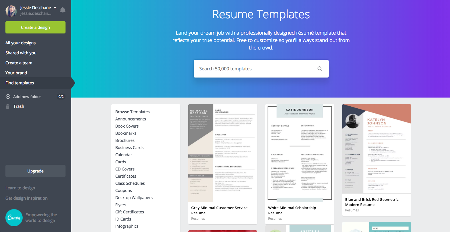 How To Make A Resume In Canva Just Jessie