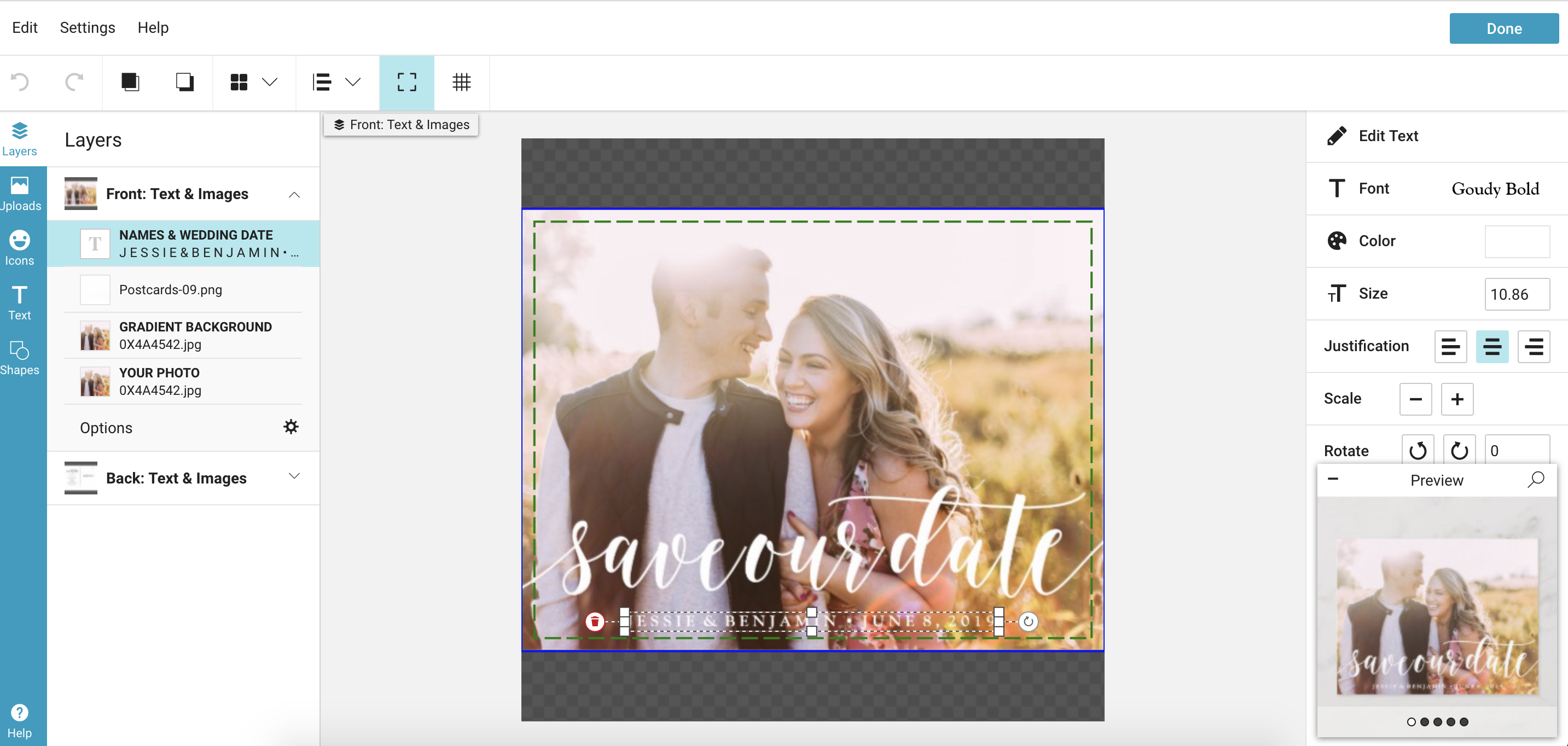 How to Create Fun, Inexpensive Save the Date Postcards